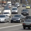 Intensive traffic in Kyiv — Stock Video