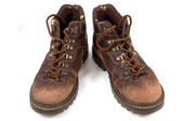 Worn boots on isolated — Stock Photo