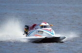 Powerboat number 2 Qatar Team F1 fast speed — Stock Photo