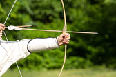 Aiming archers — Stockfoto