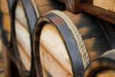 Wooden wine barrels — Foto de Stock