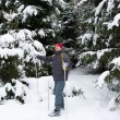 Man cross-country skiing — Stock Photo