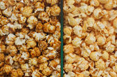 Two sorts of Popcorn — Stock fotografie