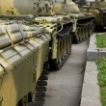 Old soviet tank — Stock Photo #42042791