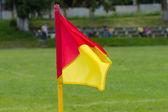Soccer corner flag — Stock Photo