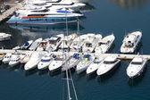 Yachts in Monaco harbor — Stock Photo