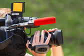 Cameraman working — Stock Photo