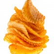 Potato chips on isolated — Stock Photo #8836495