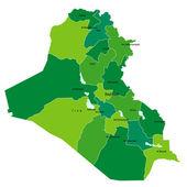 Mapa de irak — Vector de stock
