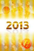 2013 Background — Stock Vector