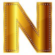 Stock Vector: N alphabet
