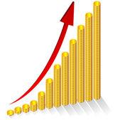Gold Graph — Stock Vector