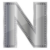 N alphabet — Stock Vector