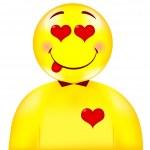Heart smile — Stock Vector