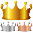 Metal crown — Stock Vector