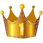 Diamond crown — Stock Vector