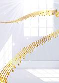 Music room — Stock Vector