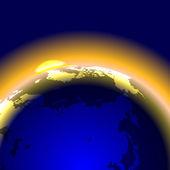 Monde de la terre — Vecteur