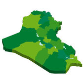 Карта Ирака — Cтоковый вектор