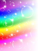Rainbow Bubbles Background — Vecteur