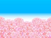 Třešeň na jaře pozadí — Stock vektor
