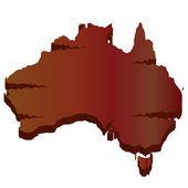Пустыне 3d карта Австралии — Cтоковый вектор