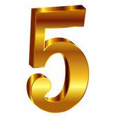 Figura emblema oro 5 — Vettoriale Stock
