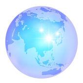 Transparencia tierra globo mundo agua — Vector de stock