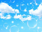 Bubbles background sky — Stock Vector
