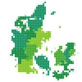 Denmark map mosaic — Stock Vector