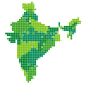 インドのモザイク地図 — ストックベクタ