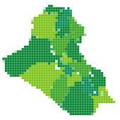 Irak Haritası Mozaik — Stok Vektör