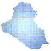 Ирак карта раунд — Cтоковый вектор