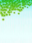Yaz maple leaf arka plan — Stok Vektör