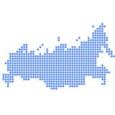 Mappa di russia rotondo — Vettoriale Stock