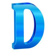 Mavi alfabe d — Stok Vektör