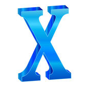 Modrá abeceda x — Stock vektor