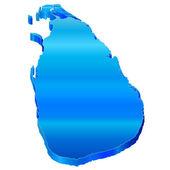 3D map of Sri Lanka — Stock Vector