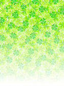 Four Leaf Clover leaf background — Stock Vector