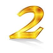 Número emblem2 — Vetor de Stock