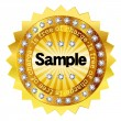 Free sample gold medal - Stock Vector