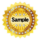 Free sample gold medal — Stock Vector