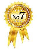 7 ramki godło medal — Wektor stockowy