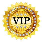 Medaglia di emblema telaio vip — Vettoriale Stock
