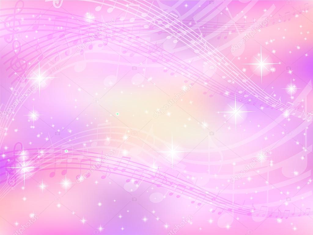 Pink Music Wallpaper: Stock Vector © JBOY24 #24152107