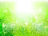 Background plant fern sky — Stock Vector