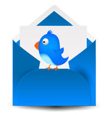 蓝鸟邮件信件 3d — 图库矢量图片