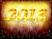 2013 fireworks background — Stock Vector