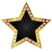 Sterne gold Diamant — Stockvektor
