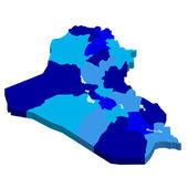 Irak Haritası — Stok Vektör